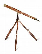 A FINE 3½IN. REFRACTING LIBRARY TELESCOPE BY MURRELL, LONDON, CIRCA 1820