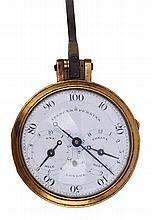 AN 18TH-CENTURY PEDOMETER BY SPENCER & PERKINS, LONDON  the 2in. enamel