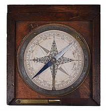 A FRENCH SURVEYING COMPASS BY JACQUES CANIVET, CIRCA 1760  with 4in. pr