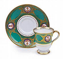 A RARE GREEN-PATTERN 'TASSE À GLACE' FROM THE ROYAL YACHT VICTORIA & ALBERT