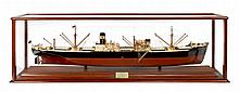 THE BUILDER'S MODEL FOR THE S.S. INDUSTRIA, BUILT BY WILLIAM GRAY & CO LTD