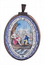 A RARE ALLEGORICAL COMMEMORATIVE MEDALLION TO ADMIRAL VILLENEUVE, CIRCA 180