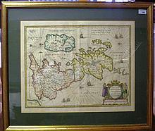 ABRAHAM ORTELIUS (1527-1598): 'BRITANNICARUM ACURATA DELINEATIO..', 17TH/18
