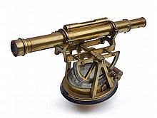 A BRASS THEODOLITE BY THOMAS RUBERGALL, LONDON, CIRCA 1840  signed and