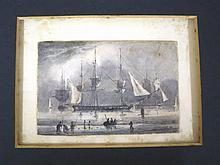 ENGLISH PROVINCIAL SCHOOL, CIRCA 1827  Panoramic View of an Estuary wit