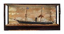 A LATE 19TH-CENTURY WATERLINE MODEL OF THE P & O LINER HIMALAYA [1853]