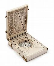 A MID 19TH-CENTURY POCKET COMPASS SUNDIAL DIAL BY SMITH, BECK & BECK  i
