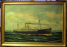 A. MOORE (BRITISH, 19/20TH-CENTURY)  The Royal Mail S.N.C. Liner 'Tagus