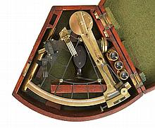 A 19TH-CENTURY 7½IN. RADIUS VERNIER SEXTANT BY CRICHTON, LONDON  the ox