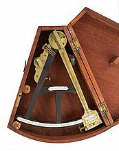 A 19TH-CENTURY 13IN. RADIUS VERNIER OCTANT BY WALKER & SON, LIVERPOOL