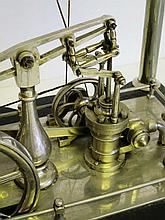 A DIDACTIC SPIROMETER, CIRCA 1880  nickel-plated overall and designed a