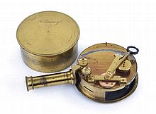 A DRUM SEXTANT BY W.R. WATTS, LONDON, CIRCA 1866  of typical form, cons