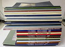 A QUANTITY OF N.R. OMELL GALLERY MARINE PAINTING CATALOGUES  comprising