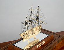 A WELL PRESENTED 1:36 SCALE MINIATURE MODEL OF THE BOUNTY