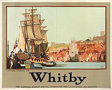 Whitby: A CAPTAIN COOK ADVERTISING POSTER, CIRCA 1935