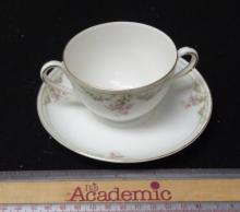 Carlsbad Double Handled Cup & Saucer (f3)