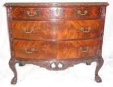 Antique Batesville Cabinet Co Hand Carved Server