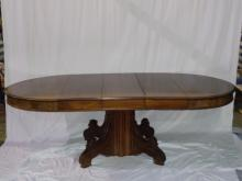 Gothic Revival Carved Mahogany Dining Table