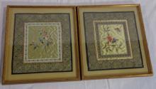 Pair Of Asian Silk Art