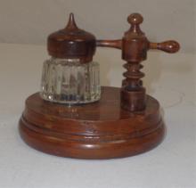 Wood & Glass Jar & Stand