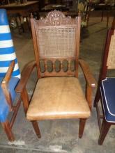 Bauer Antique Teak Captain's Chair
