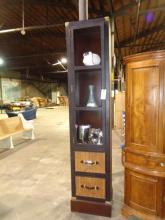 Bauer Rattan & Leather Cabinet