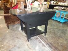Black Drop Leaf Table