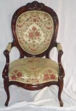 Victorian Antique Carved Mahogany Side Parlor Char