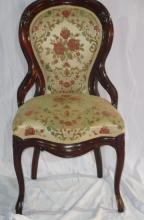Victorian Antique Carved Mahogany Side Parlor Chr