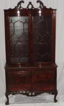 Antique Batesville Cabinet Co Hand Carved China Cb