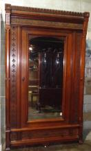Victorian Eastlake Carved Walnut Antique Armoire