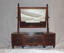 Antique Mahogany With Inlay Dresser Caddy