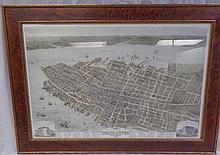 Birds Eye View Of City Of Charleston 1872