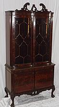 Batesville Cabinet Co Carved Mahogany China Cabine