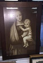 Madonna And Child Framed
