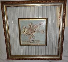 Framed Dogwood On Glass