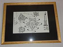 Framed Ink Drawing
