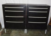 Pair Of Matching Black Dressers