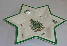 Spode Christmas Tree China Star Dish