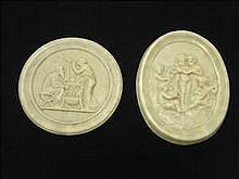 2 Italian marble plaques