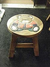 Teddy Bear childs stool