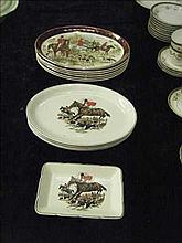 Collection of hunting scene plates