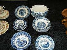Collection of blue/white ware