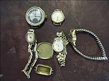 Collection of rolled/filled gold watches and parts