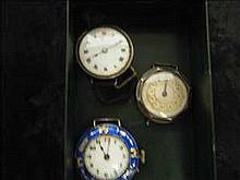 Collection of 3 non-working vintage silver watches