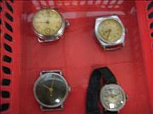 Collection of 4 working vintage services watches