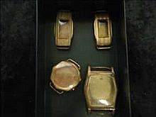 Collection of 4 vintage rolled/plated gold watch