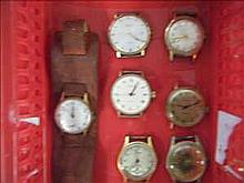 Collection of 7 working vintage watches inc. Avia,