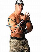 John Cena 8x10 photo of John, signed by the WWE star in NYC. Good condition