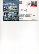 Lt Col Terence Otway DSO Signed Operation Overlord FDC. He commanded The 9t
